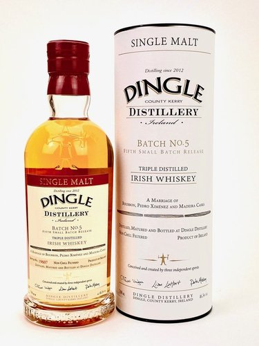Dingle Single Malt Irish Whiskey Batch No.5  Region: Dingle, Irland.